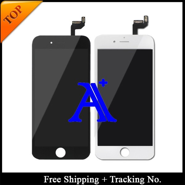 5 pçs/lote dhl livre 100% testado para nova marca de 4.7 'para iphone 6 s lcd screen display digitador assembléia-branco/preto