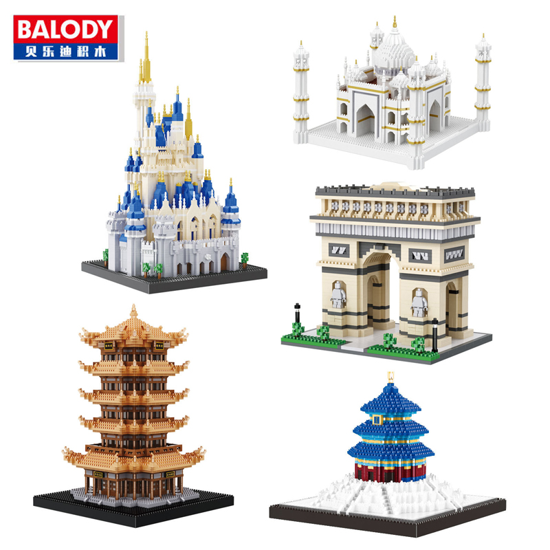 Balody World Famous Architecture Diamond Building Nano Blocks Toy Castle Taj Mahal Tower Triumphal Arch Temple of Heaven no BoxBalody World Famous Architecture Diamond Building Nano Blocks Toy Castle Taj Mahal Tower Triumphal Arch Temple of Heaven no Box