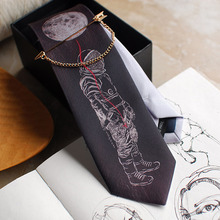 New Free Shipping fashion casual Mens man male Shark Fantasy Series printed Tie Married Hosting Western European Party necktie