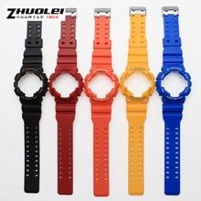 2016 Nueva llegada del color natural pulsera de reloj de la correa de goma de silicona resistente al agua para CasioGA-100/GA-300/GA-110/GA-120/G-8900