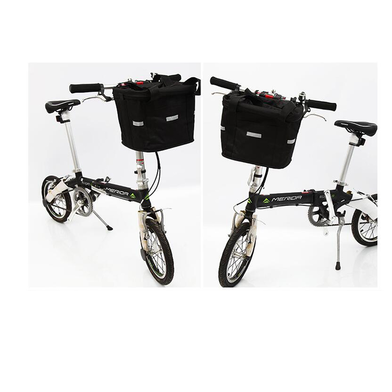 Sac de vélo pliable cadre avant panier de montagne vélo géant vélo sac de vélo étui de vélo shopping panier en plastique
