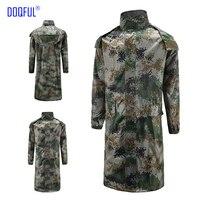 2PCS/lot Jungle Rescue Long Adult Camouflage Rain Coat Outdoor Training Work Uniform Digital Raincoat Safety Clothing Hot Sale