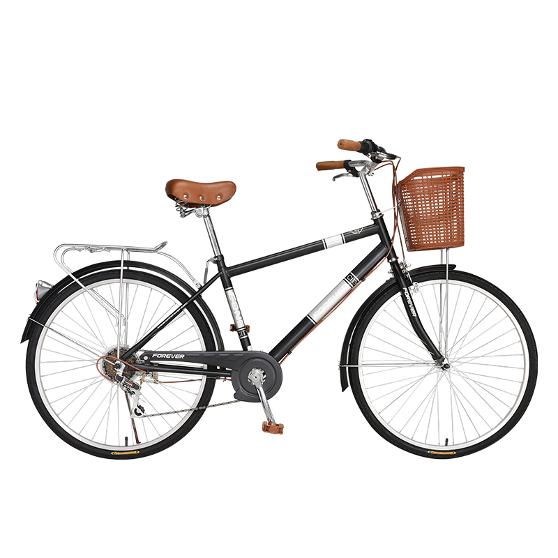 Adult Men's Commuter 26-inch 7-speed Retro City Riding Ordinary Stepping Speed Bicycle