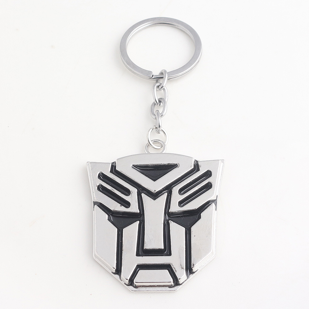 New Transformation Robot Bumblebee Mask Keychain High Quality Alloy Bumblebee Mask Series Men Jewelry Cosplay Props Pendant