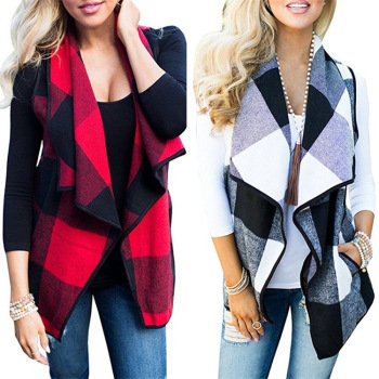 Woman's Plaid Jacket Vest