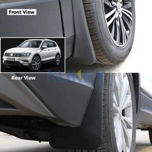 Image 4 - Bộ Đúc Chắn Bùn Cho VW Tiguan 2 Mk2 2016 2017 2018 Mudflaps Bắn Cận Vệ Phía Trước Phía Sau Bùn Sập Mudguards fender Bộ