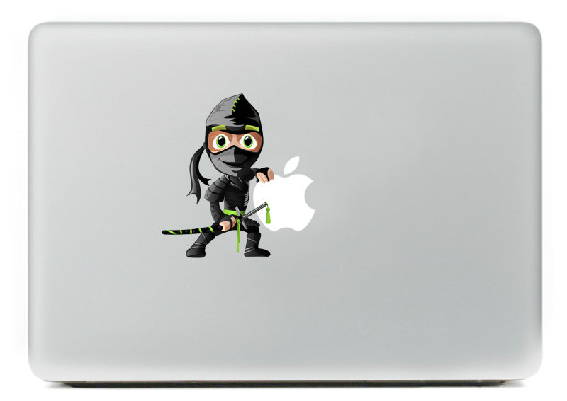 Cartoon Ninja Vinyl Decal Sticker for DIY Macbook Pro / Air 11 13 15 Inch Laptop Case Cover Sticker