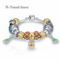 Christmas Tree Plant Charm Bracelet For Women Bracelets Bangles Female Diy Jewellery PA1803
