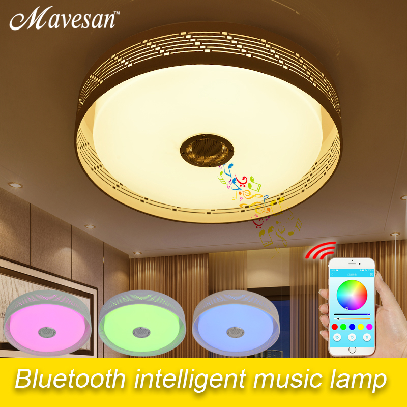 Morden smartphone led Ceiling Lights with Bluetooth controlled brightness Led ceiling lamp for 10 -15 Square meters Home Decor 10 50 meters pack 1m per piece led aluminum profile slim 1m with milky diffuse or clear cover for led strips
