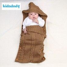 KiDadndy Baby Cute Sleeping Bag Burst Newborn Solid Color Sleeping Bag Blanket Wrapping Layer