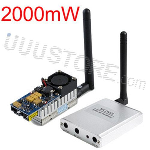 Boscam FPV 5.8G 5.8Ghz 2W 2000mW 8 Channels Wireless Audio Video AV Transmitter TS582000 and Receiver RC305 Combo boscam fpv 5 8g wireless audio video receiver receiving module rx5808