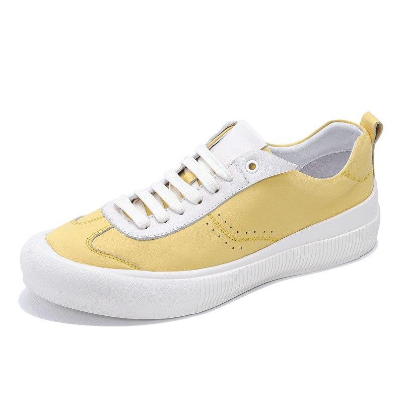 Jaunes Or Chaussures À Seak De Vache Appartements Owen Printemps D'été Homme Luxe Baskets Hommes Cuir Blanc Sneakers Lacets En Décontractées blanc BoedWCxr