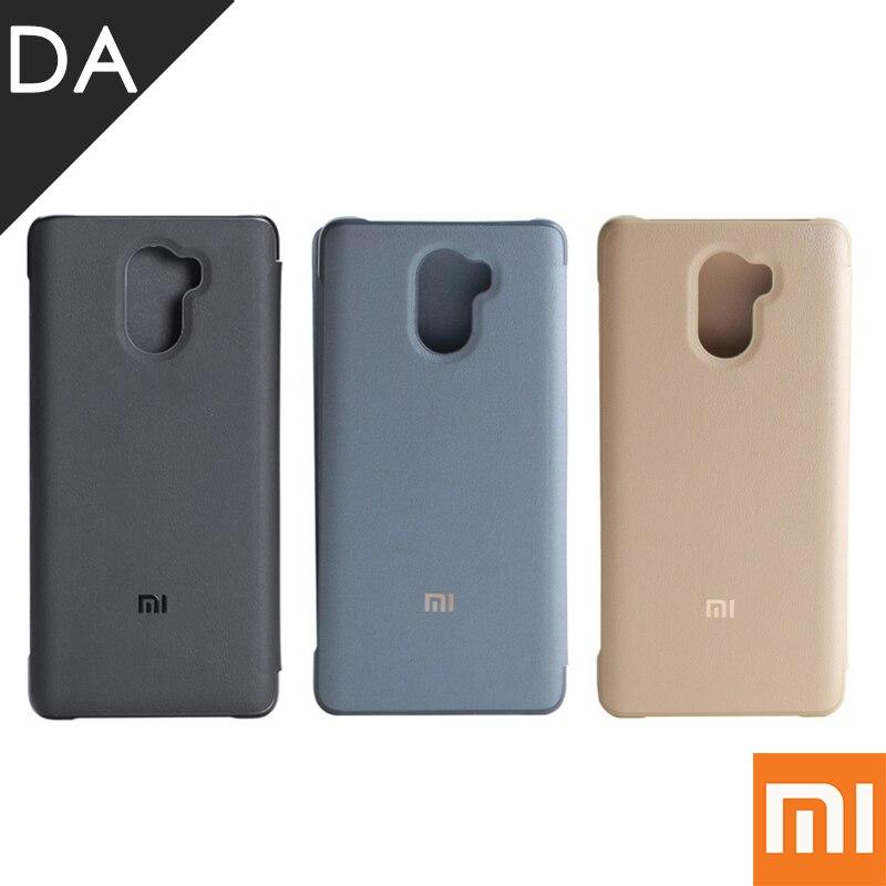 Цена за Оригинальный чехол Флип Для Redmi 4 PU кожаный чехол для Xiaomi Redmi 4 Pro премьер 4 г LTE премьер жесткий задняя тонкий защиты принципиально