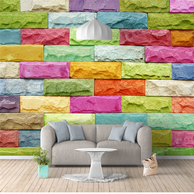 Modern Brick Stone Wallpapers for Walls 3D Photo Wallpapers Abstract Painting Murals Wall Papers Living Room Bedroom Home Decor 3d abstract wallpapers southeast asia peacock feature murals walls photo print wallpaper 3 d wall paper papier for living room