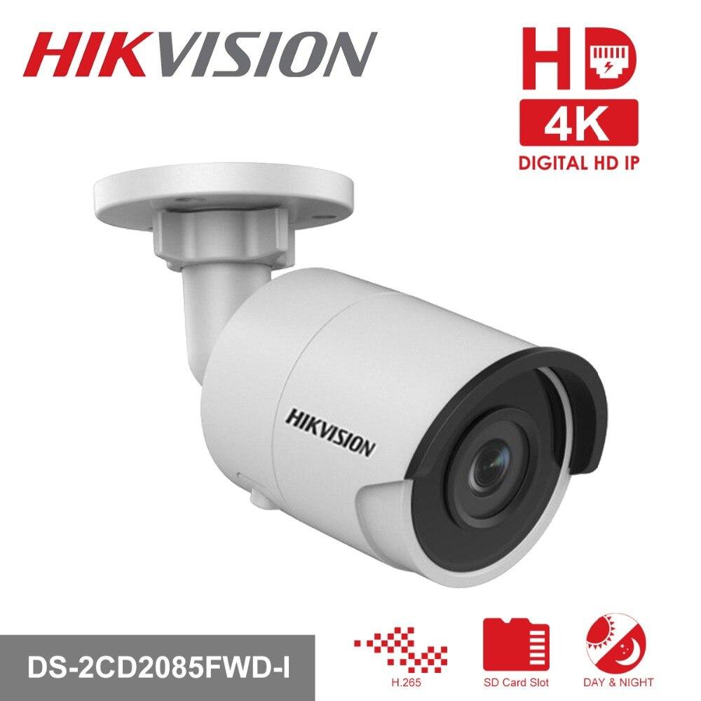 Hikvision 8MP CCTV Caméra Mis À Jour DS-2CD2085FWD-I IP Caméra Haute Resoultion WDR POE Bullet Caméra de Sécurité Avec SD Fente Pour Carte