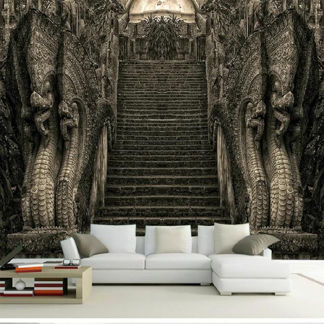 Un grand mural 3D papier peint 3D papier peint thème hôtel ...