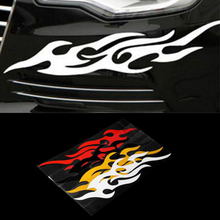 Dewtreetali Hot Universal Car Styling Sticker Engine Hood Motorcycle Decal Decor Mural Vinyl Covers Accessories Auto Flame
