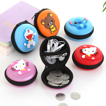 New Cute Girls Mini Coin Purse Brand Child Silicone Round Small Pouch Wallet Case Box Rubber Key Animal Bag for Earphone