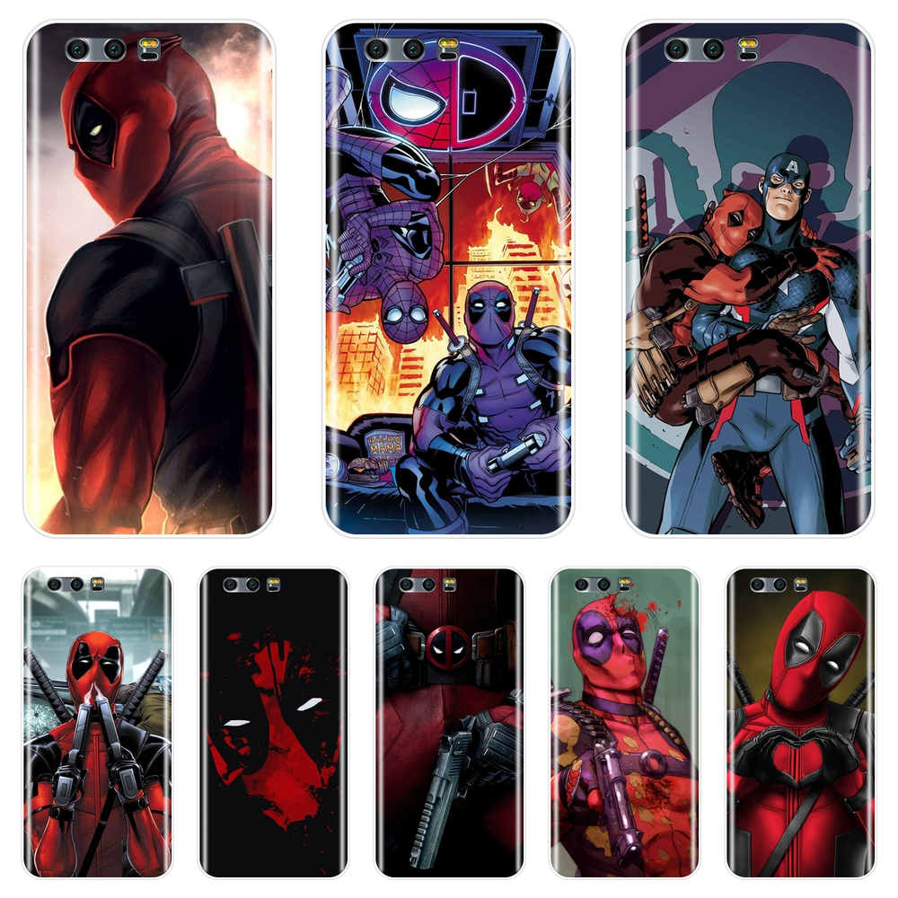 For Huawei <font><b>Honor</b></font> 8X MAX 7S 7X 7A 7C Pro <font><b>Phone</b></font> <font><b>Case</b></font> Silicone <font><b>Marvel</b></font> SuperHero Deadpool Soft Back Cover For <font><b>Honor</b></font> 7 8 <font><b>9</b></font> 10 <font><b>Lite</b></font> image
