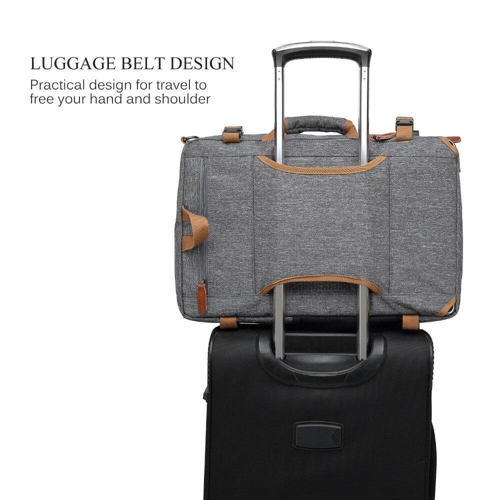 Mochila Convertible bolso de mensajero bolso de hombro Maletín de negocios mochila de viaje bolso multifunción bolsos de ordenador portátil 17,3 17 - 6
