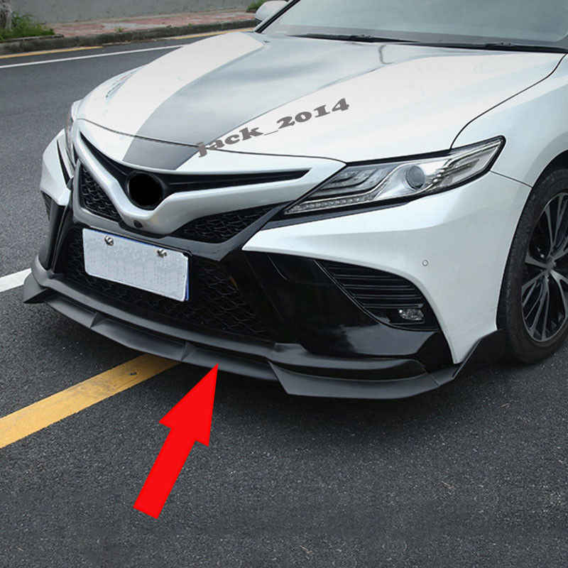 Detail Feedback Questions About Fit For 2018 Toyota Camry Sport Abs Matt Black Front Lip Per Cover Trim 3pcs Aa On Aliexpress Alibaba Group