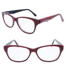 8a4b6e4b8fcc F56 walkers full rim bicolor trendy full acetate with flexible spring hinge  classic Vintage optical glasses