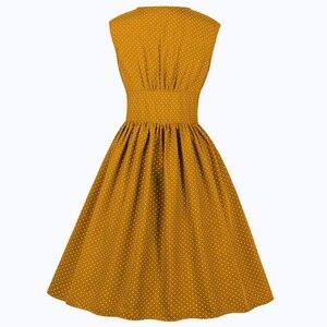 Joineles 11 цветов, женское ретро платье с цветочным принтом, однотонное, 60s, на булавке, рокабилли, платье размера плюс 4XL, вечерние платья на пуговицах, Vestidos De Festa