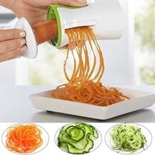 Портативная Терка-шинковка для овощей ручная спиральная Терка овощи, морковь слайсер спагетти паста кухонные инструменты для приготовления пищи