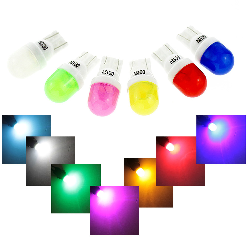 Ceramic T10 W5W LED Bubbles amber white blue red yellow green Pink Lights 12V Car Door w5w 194 168 Light Bulb scoe t10 w5w dc12v 20smd 5050led car styling led light bulb source blue crystal blue green red yellow white warm white 168 194
