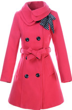 Explosion models fall and winter women double collar double-breasted Maone coat jacket belt foreign trade European style