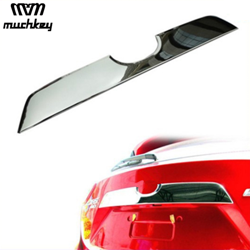 High Quality Car-Styling For Mazda CX-5 CX5 2012 2013 2014 2015 2016 Car Accessories Rear Trunk molding Lid Trim With Chrome 1pc car rear trunk security shield cargo cover for honda fit jazz 2008 09 10 11 2012 2013 high qualit black beige auto accessories