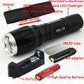 2000 LM 7 РЕЖИМ Масштабируемые CREE XM-L T6 LED 18650 AAA фонарик Факел Увеличить Свет Лампы + Аккумуляторная батарея + Зарядное Устройство + кобура