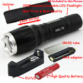 2000 LM 7 MODE Zoomable CREE XM-L T6 LED 18650 AAA Flashlight Torch Zoom Lamp Light + Rechargeable battery + Charger + Holster