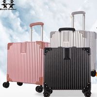 Wenjie brother 2018 new quality Aluminum frame and PC travel trolley case hardside rolling luggage suitcase trolly luggage