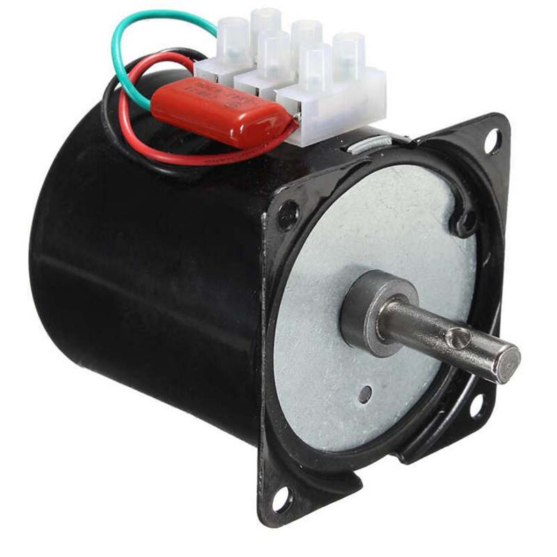 220v 14W Synchronous motor 2.5 100RPM Low Noise Gearbox Electric Motor Barbecue High Torque Low Speed Synchronous AC Motor