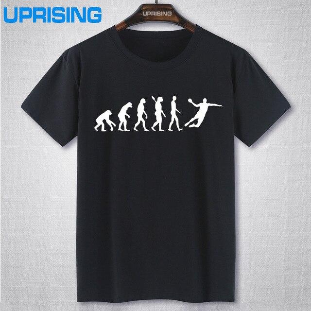 c1d0e6c389be Evolução de Handebol T Shirt Dos Homens de Verão de Manga Curta Moda Algodão  Fresco Evolução