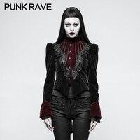 2018 Punk Rave Gothic Scissor tail Jacket Steampunk steam punk rock dark style fashion women woens top Y769