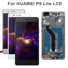5.2 LCD Originale Per HUAWEI P9 Lite Display Touch Screen Sostituzione con Cornice per HUAWEI P9 Lite Display LCD VNS L31 L21 L19 L23