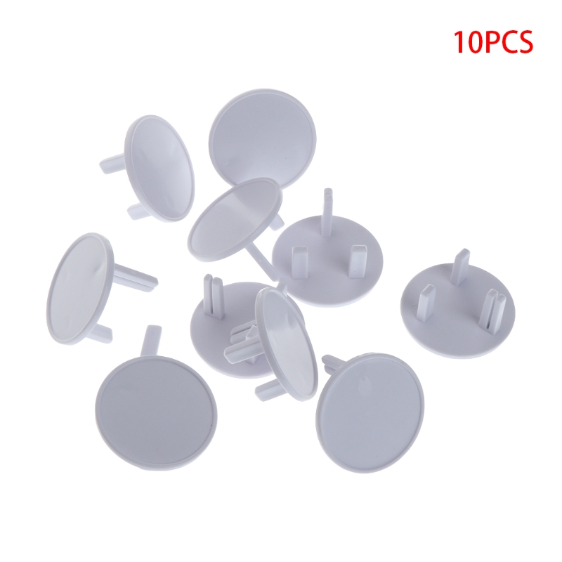 10Pcs UK Power Socket Outlet Mains Plug Cover Baby Child Kids Safety Protector Guard Anti Electric Shock Plugs Protector Rotate new 10pcs plug socket cover baby proof child safety plug protector guard mains