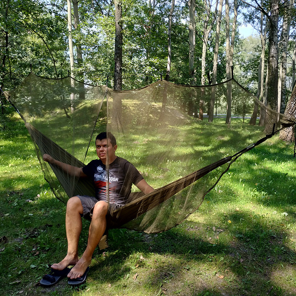 275g Ultralight Portable Hammock Mosquito Net For Outdoor Survival Nylon Material Anti-Mosquito Nets With 340*140cm Super Size