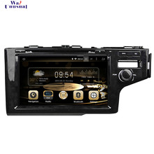 "WANUSUAL 9 ""2 גרם RAM 32 גרם ROM אוקטה Core אנדרואיד 6.0 DVD לרכב GPS נגן להונדה Fit RHD 2014 2015 2016 עם GPS BT Wifi FreeMaps(China)"