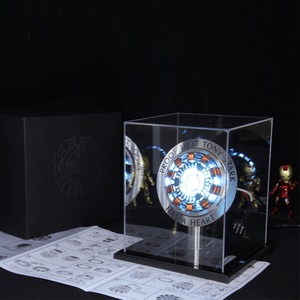 Image 4 - Avenger 1:1 Người Sắt Lò Phản Ứng Hồ Quang Nhân Vật Hành Động MK1 Iron Man Lò Phản Ứng Tony Stark Lò Phản Ứng Hồ Quang Tự Làm Các Bộ Phận Đồ Chơi Mô Hình Với đèn Led