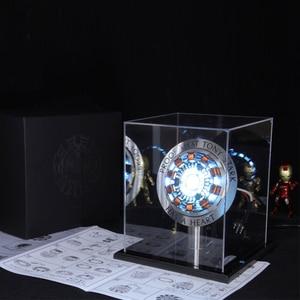 Image 4 - Avenger réacteur à Arc 1:1 Iron Man figurine daction, réacteur Ironman MK1 Tony Stark, modèle de jouets à monter soi même, pièces lumière LED