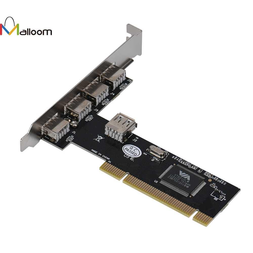 Malloom يو أس بي عالية الجودة 2.0 HUB 4 ميناء 480 ميغابت في الثانية عالية السرعة عبر HUB PCI بطاقة وحدة التحكم محول #25