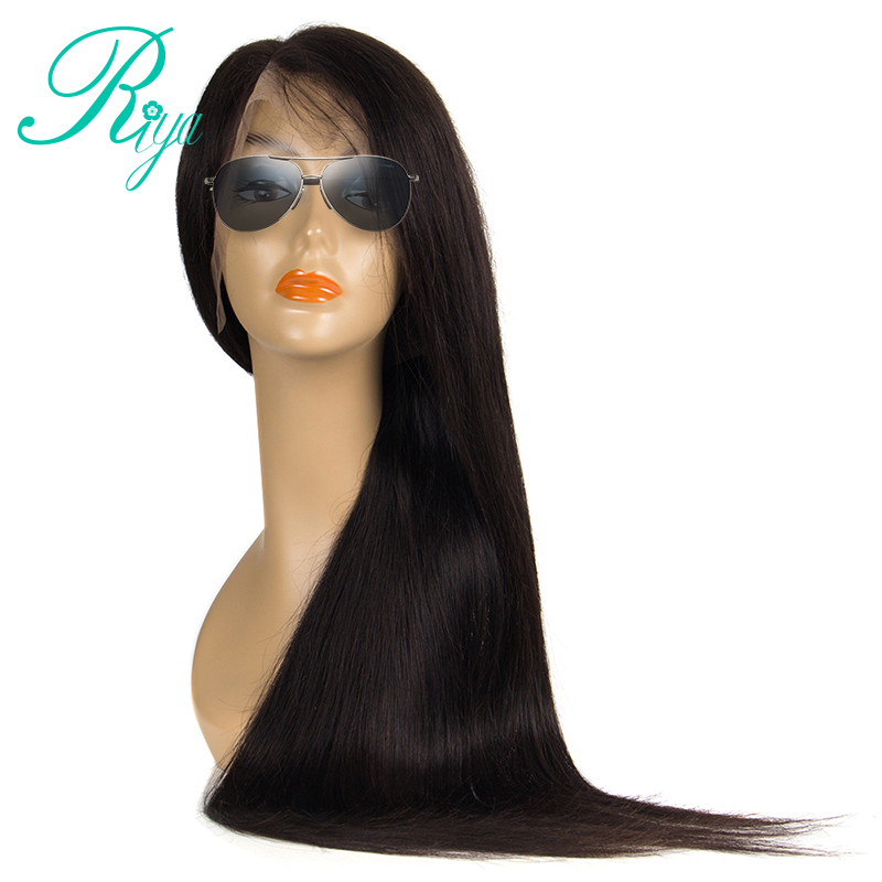 13x6 Lace Front Human Hair Wigs With Baby Hair 150% Density Brazilian Straight Lace Fron ...