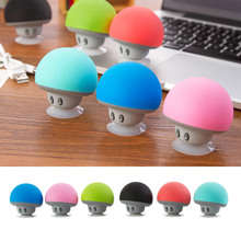 Mini Mushroom Bluetooth Speaker waterproof sucker mini bluetooth speaker audio outdoor portable Bracket цены