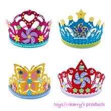 DIY ремесло EVA пена Корона креативные бумажные блестки цветы Звезды узоры игрушки для детей искусство для детского сада вечерние украшения подарок