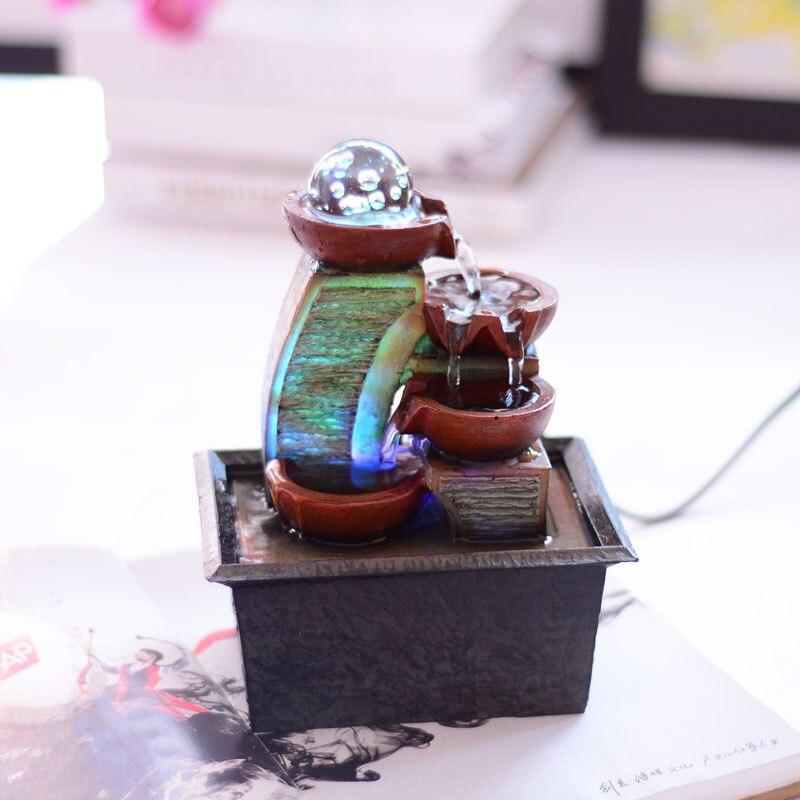 artstico creativo escritorio waterscape fuente de agua feng shui ronda afortunado decoracin muebles para el hogar