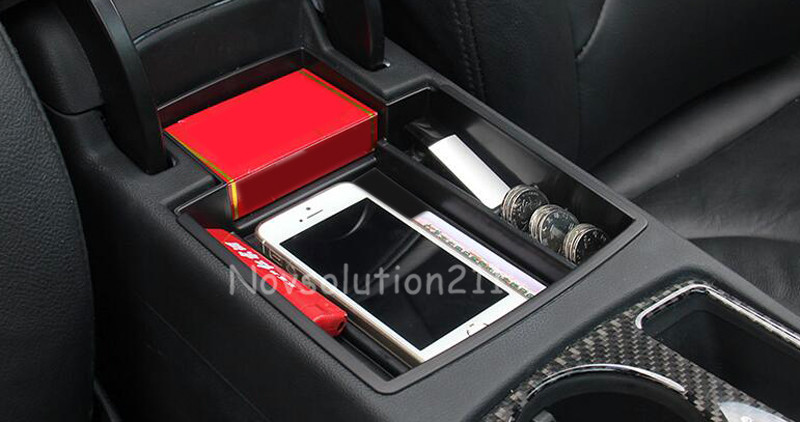 Car Styling Car organizer For Audi A4 B8 2008 - 2015 Interior Central Armrest Storage Container Holder Tray Box Accessories 1set mini soft silicone car trash bin rolling cover type garbage cup dust rubbish box container organizer interior accessories