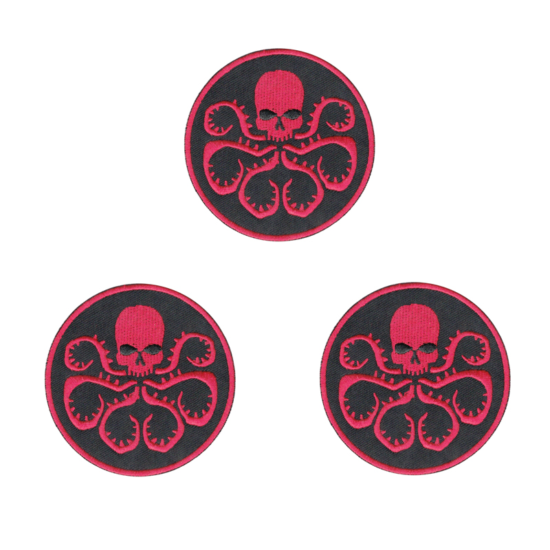 Cartoon fashion <font><b>Clothing</b></font> Badge <font><b>Patches</b></font> <font><b>Marvel</b></font> Comics Hydra Symbol Crest <font><b>For</b></font> Apparel Bag DIY Accessories image